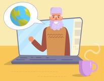 Vektor för natur för bärbar datorplanetjord royaltyfri illustrationer