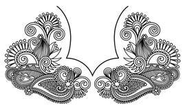 vektor för neckline för broderimodeillustration vektor illustrationer