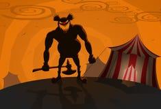 vektor för ondska för bakgrundscirkusclown Royaltyfri Fotografi