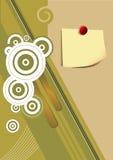 vektor för papper för bakgrundseps-anmärkning Royaltyfri Fotografi