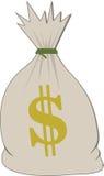 vektor för pengar för bild för grunge för bakgrundspåsediagram Royaltyfria Bilder