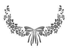 Vektor för pilbåge för blomma för designbeståndsdelram victorian royaltyfri illustrationer