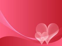 vektor för pink för bakgrundsillustrationförälskelse Fotografering för Bildbyråer