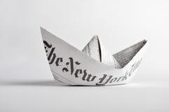 vektor för plan för papper för origami för fartygorienteringstillverkning Royaltyfri Fotografi