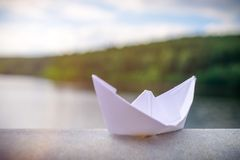 vektor för plan för papper för origami för fartygorienteringstillverkning Arkivfoto