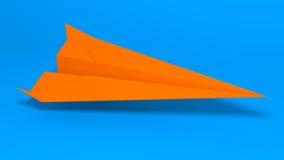 vektor för plan för papper för origami för tillverkning för flygplanillustrationorientering Arkivfoton