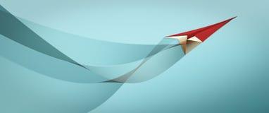 vektor för plan för papper för origami för tillverkning för flygplanillustrationorientering Arkivbilder