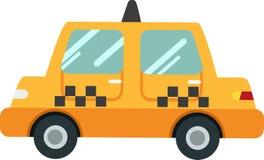 Vektor för polisbil på en vit bakgrund royaltyfri illustrationer