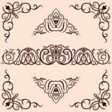 vektor för prydnadar för dekorformgivareelement Royaltyfria Bilder