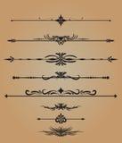 Vektor för prydnader för krusidullar för tappninggarneringbeståndsdelar calligraphic stock illustrationer