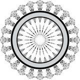 vektor för ram för abstrakt designelement blom- Arkivfoto