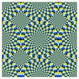 vektor för rotation för cirkuleringsillusion optisk Royaltyfri Bild