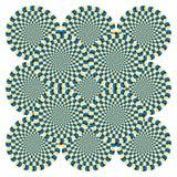 vektor för rotation för cirkuleringsillusion optisk Royaltyfria Bilder