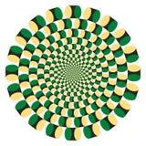 vektor för rotation för cirkuleringsillusion optisk Arkivbilder