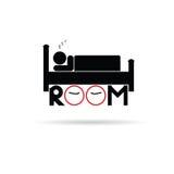 Vektor för rumsymbolshotell för att sova illustrationen Royaltyfri Fotografi