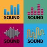 Vektor för sång för spektrum för musik för solid våg ljudsignal royaltyfri illustrationer