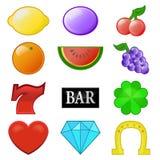 Vektor för samling för kasinospringasymboler Royaltyfri Bild