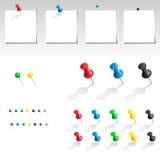 vektor för samlingsstiftpush Arkivbild