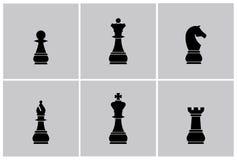 Vektor för schackstycken royaltyfri illustrationer