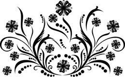 vektor för scroll för cartouchedekorillustration Fotografering för Bildbyråer
