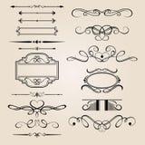 vektor för set för kantdesignelement Royaltyfria Bilder