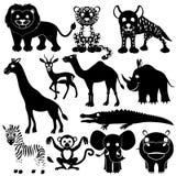 vektor för set för tecknad filmhjärtor polar Djurt tecken Arkivfoto