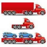 vektor för set för tecknad filmhjärtor polar lastbilar Royaltyfria Foton