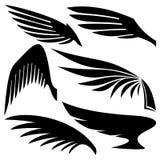 vektor för set för tecknad filmhjärtor polar vingar Royaltyfri Bild