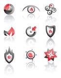 vektor för set symboler för logoer Royaltyfri Bild