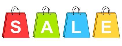 vektor för shopping för försäljning för illustration för påsebegreppsrabatt Fotografering för Bildbyråer