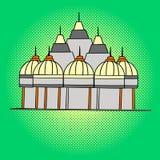 Vektor för Shri Swaminarayan Mandir popkonst Arkivbild