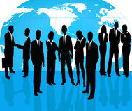 vektor för silhouette för affärsfolk vektor illustrationer