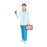 Vektor för sjuksköterskadoktorstecken Arkivfoton