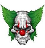 vektor för skalle för clowndesignillustration Royaltyfri Foto