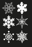 vektor för snowflake för bakgrundsblue set Arkivbild