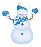 vektor för snowman för ferie för korteps-mapp bland annat Royaltyfri Foto