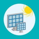 Vektor för sol- energi Arkivfoto