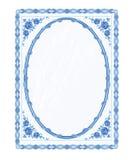 Vektor för spegelramfajans utan lutningar Arkivbild