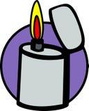 vektor för stål för lighter för brandflammaillustration vektor illustrationer