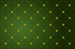 vektor för st för patricks för bakgrundsväxt av släkten Trifoliumdag Arkivfoton