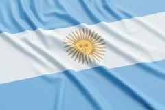 vektor för stil argentina för tillgänglig flagga glass stock illustrationer