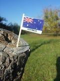 vektor för stil Australien för tillgänglig flagga glass Arkivfoton