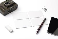 vektor för stil för logo för illustration för affärskort corporative Fotografering för Bildbyråer