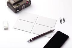 vektor för stil för logo för illustration för affärskort corporative Arkivfoton