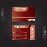 vektor för stil för logo för illustration för affärskort corporative Royaltyfri Bild