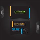 vektor för stil för logo för illustration för affärskort corporative Royaltyfria Bilder