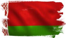 vektor för stil för tillgänglig belarus flagga glass vektor illustrationer