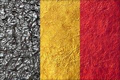 vektor för stil för tillgänglig Belgien flagga glass Arkivbild