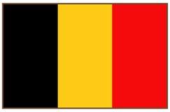 vektor för stil för tillgänglig Belgien flagga glass
