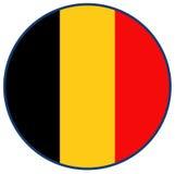 vektor för stil för tillgänglig Belgien flagga glass Arkivfoto